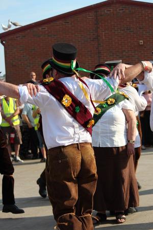 yesteryear: Treacle Mine Morris Dancers at Whitby Folk Week, August 2015. Editorial
