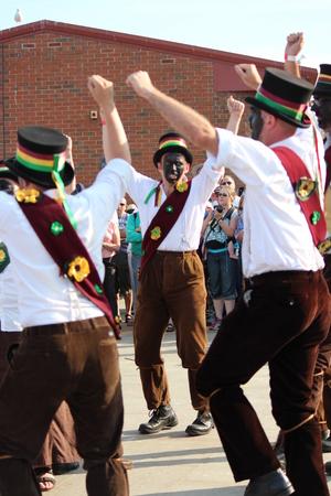 treacle: Treacle Mine Morris Dancers at Whitby Folk Week, August 2015. Editorial