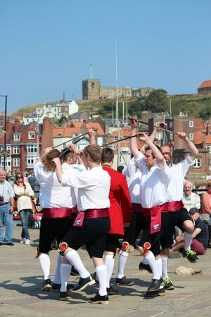 footware: Sword Dancers at Whitby Folk Festival, August 2015.