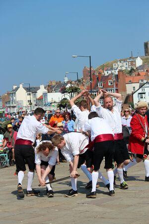 yesteryear: Sword Dancers at Whitby Folk Festival, August 2015.