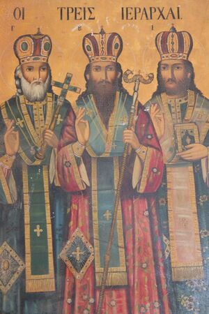 subdued: Church Painting of Kings,  Cyprus.