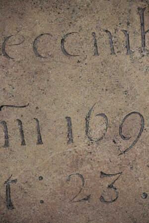 linguistics: Calligraphy Carved in Stone. Stock Photo