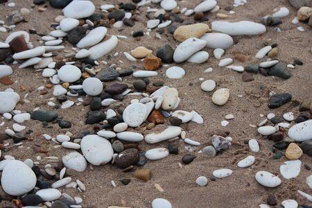 irridescent: Pebbles On Bridlington Beach,Yorkshire. Stock Photo