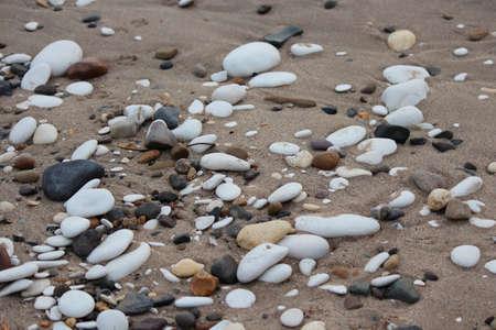 leaden: Pebbles On Bridlington Beach,Yorkshire. Stock Photo