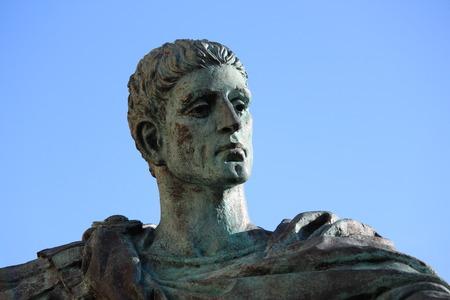 emperor: Statue of Roman Emperor Constantine, York. Stock Photo