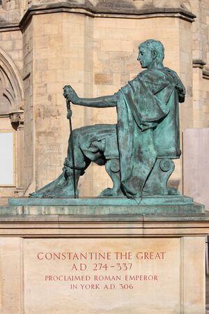 constantine: Statue of Roman Emperor Constantine, York. Stock Photo