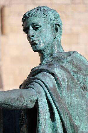 armaments: Statue of Roman Emperor, York.