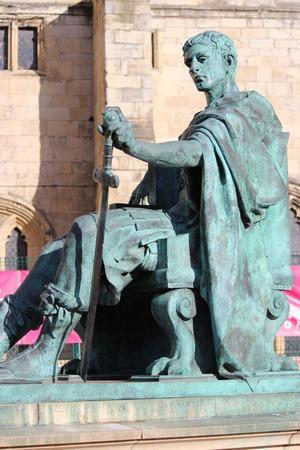 emperor: Statue of Roman Emperor, York.