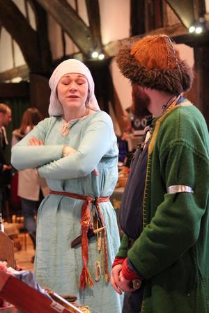 re enactment: Jorvik Viking Festival Market, York, February 2016. Editorial