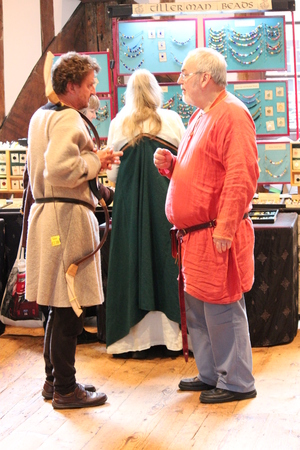 re enactment: Jorvik Viking Festival Market, York, February 2016 Editorial