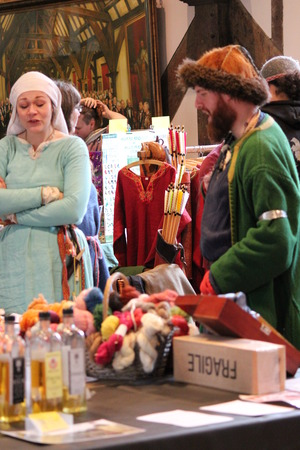 re enactment: Jorvik Viking Festival Market, York, February 2016 Editorial