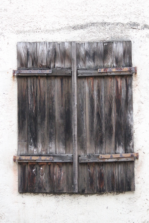 louvered: Plain Wood Shuttered Window, Germany.