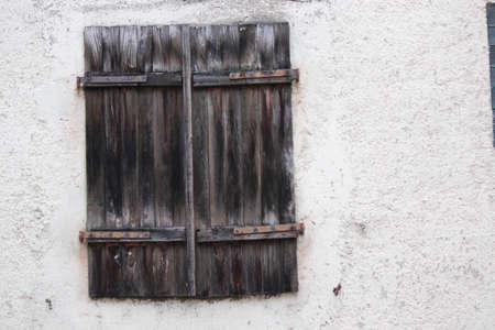 louvered: Plain Wood Shuttered Window, Germany.