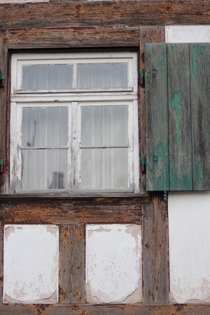 louvered: Old Shuttered Window, Germany.