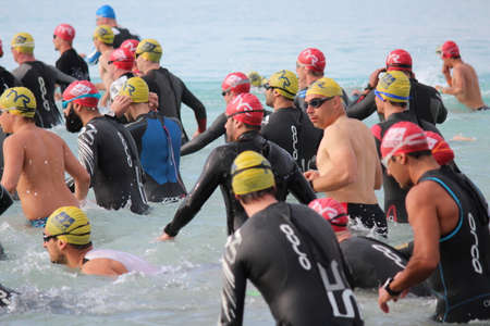 Ayia Napa Triathlon, Cyprus, Sunday 3rd April 2016; 750m Swim. Editorial