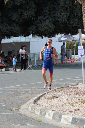 lycra: Ayia Napa Triathlon, Cyprus, Sunday 3rd April 2016; 5k Road Run. Editorial