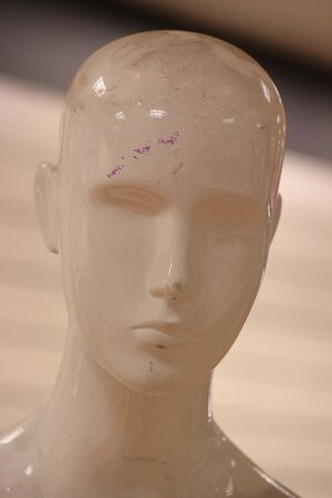 contrasted: Mannequin Contrasted Against background. Stock Photo
