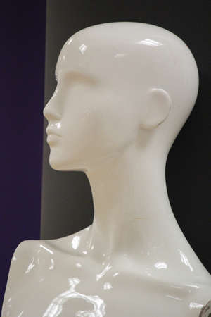 featureless: Mannequin Contrasted Against background. Stock Photo
