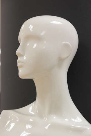 featureless: Mannequin Contrasted Against Background.