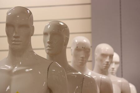 featureless: Male Mannequins.
