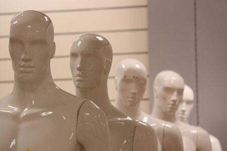featureless: Male Mannequins.