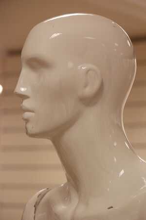 featureless: Male Mannequin In Profile. Stock Photo