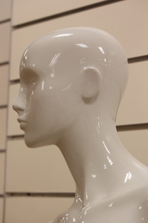 featureless: Mannequin in Store at Close of Business.
