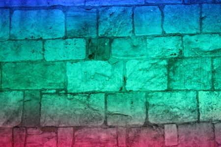 Floodlit Medieval Wall, York, England.