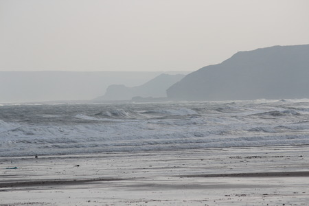 Spectacular Silver Sands on Grey Winters Day, Yorkshire.