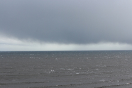 Turbulent, Stormy Day at Yorkshire Coast .