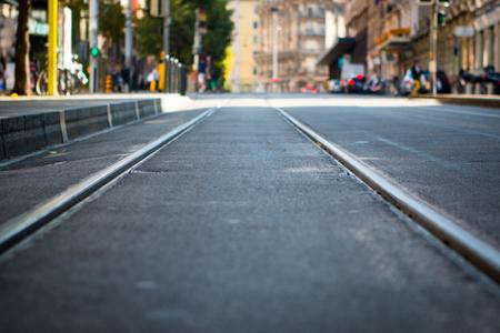 electrico: Tram tracks near the centre of Geneva, Switzerland