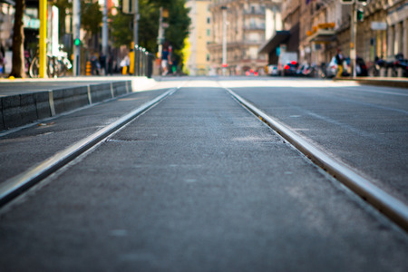 electrico: Tram tracks near the centre of Geneva, Switzerland