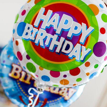 Happy Birthday Balloons celebrating