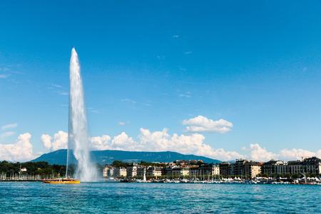 The landmark Jet dEau of Geneva, Switzerland