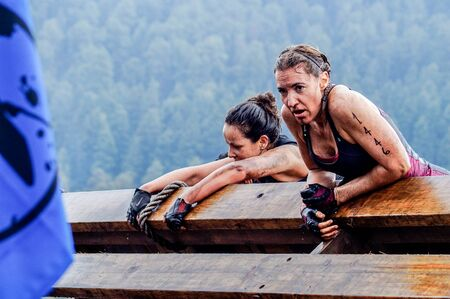 The Spartan Race is an extreme military style obstacles race where athletes run on hits of 300 participants, resembling the 300 spartan soldiers that fought under command of the legendary greek general Leonidas on the Thermopylae Battle. This female athle