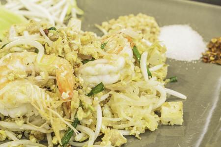 Thai food Pad thai, Stir fry noodles in padthai style.