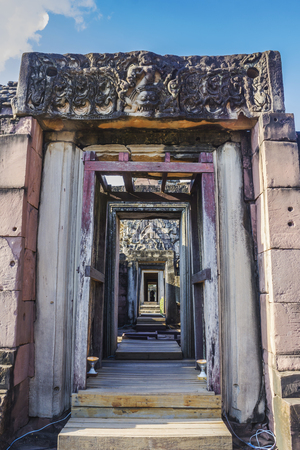 Phimai Historical Park, Part of ancient palace in thailand.
