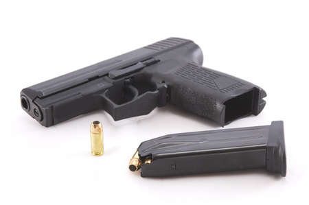 ammunition: Semi-automatic pistol with ammunition