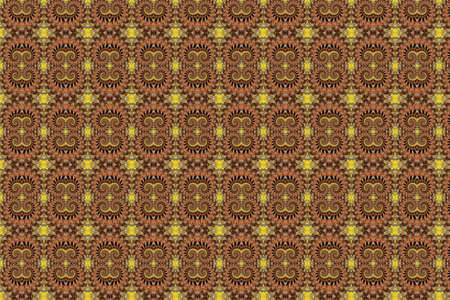 A colorful, abstract, repeating pattern with fractal swirls. Фото со стока