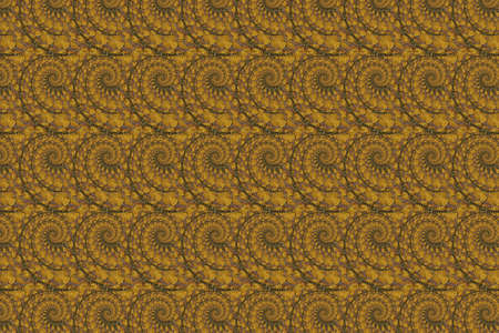 An abstract, repeating pattern with fractal swirls.