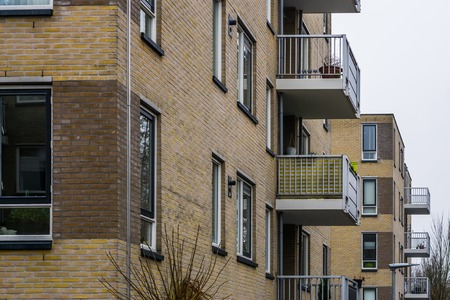 apartments building in the city of hilversum, Homes with balcony's, Modern dutch architecture