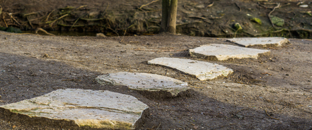 walking path made of big stones, Garden or nature decorations and architecture