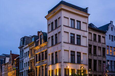 City buildings in antwerp, Classical city architecture, Antwerpen, Belgium, April 23, 2019