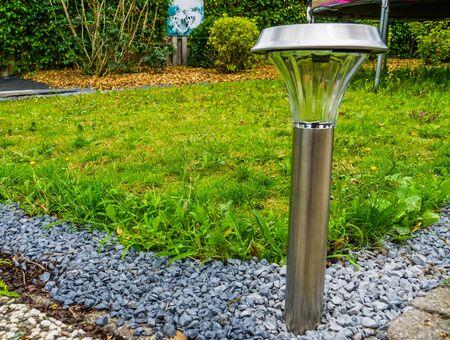 modern garden lantern powered by solar energy, Decorative lighting for the backyard