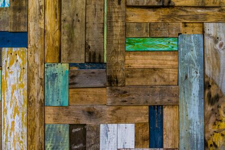 Vintage wood pattern in different colors, wooden wall background Stok Fotoğraf