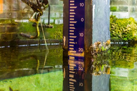 water height measure pole, measurement method according to The Normal Amsterdam Level, Dutch altitude pole