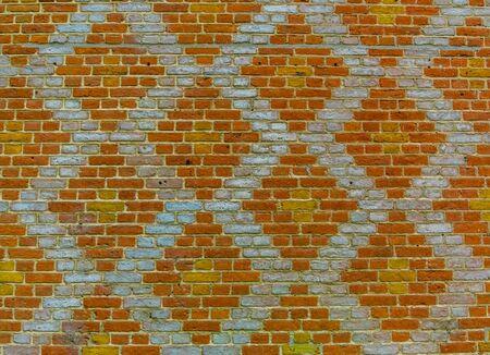 modern brick wall with diamond pattern, new trendy architecture design background Stockfoto