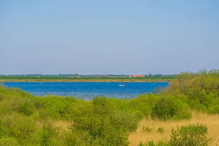 View on the city from the dunes of Tholen, popular holiday location in zeeland, the netherlands Stockfoto