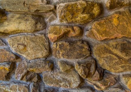 pattern of cemented lime stones, rock wall, Modern architecture with a vintage touch 写真素材
