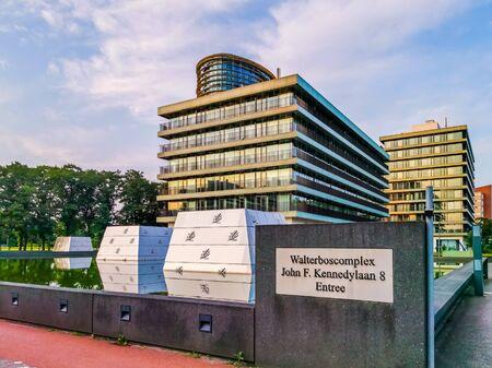 Modern dutch architecture, the walterboscomplex in apeldoorn city, The Netherlands, 6 august, 2019 Editorial